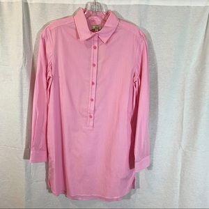 Jade XS Pink & White Striped Tunic NWT